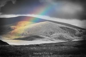 художественное фото Радуга на плато Укок