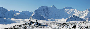 Вид на Белуху с перевала Каратюрек. Алтай (6100)