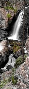 Вертикальное фото Муихтинский водопад