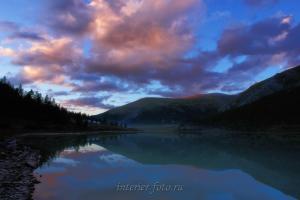 Закат на Аккемском озере - Алтай