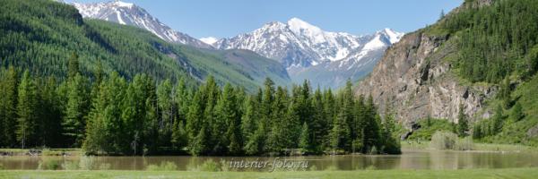 Панорамное фото Чуя и Северо-Чуйский хребет