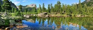 Панорамное фото Озеро Художников, Ергаки, Саяны