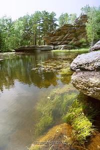 Озеро Моховое в Горной Колывани