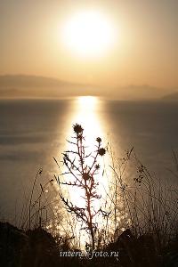 Авторское художественное фото Восход солнца на Бухтарме