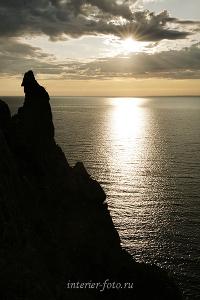 Утро в заливе Бирхин на Байкале