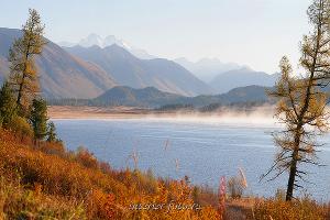 Гора Белуха с Язевого озера - Восточный Казахстан
