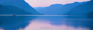 Панорама Телецкое озеро в Артыбаше