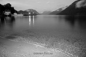 чёрно-белые фотографии для интерьера Телецкое озеро в Артыбаше