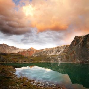 Закат на Кубадринском озере