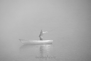 чб фото Рыбалка на Алтае