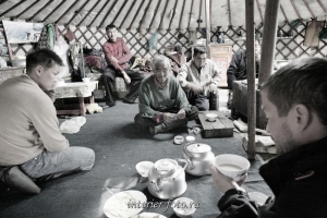 В казахской  юрте, Монголия