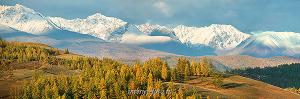 Осень в Курае - вершины Северо-Чуйского хребта