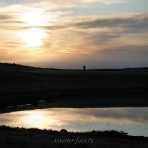 Восход солнца на плато Укок