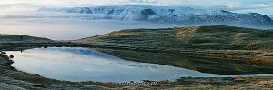 Туман над долиной Ак-Алахи на плато Укок