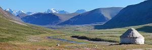 Вид в сторону горы Ирбисту с Джумалинских ключей
