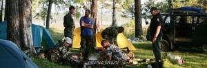 Экспедиционный лагерь на Ангаре, Байкал