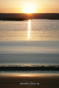 Закат на Бухтарминском водохранилище