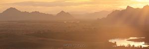 Закат на Енисее в окрестностях горы Хайыракан в Туве