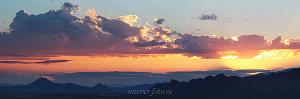 Закат в окрестностях горы Хайыракан в Туве
