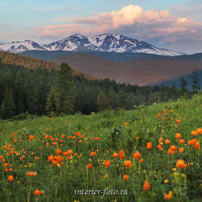 Гора Красная на рассвете - Кайтанакский перевал