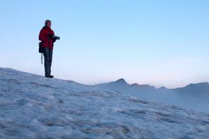На леднике - пик Стена