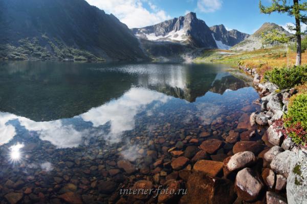 Озеро Харлыгхоль в Кузнецком Алатау