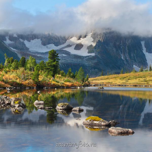 Осень на озере Круглом в Золотой долине