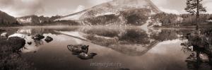 Озеро Круглое в сепии - Поднебесные Зубья