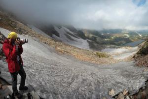Вид с подъема на перевал НГПИ - Поднебесные Зубья