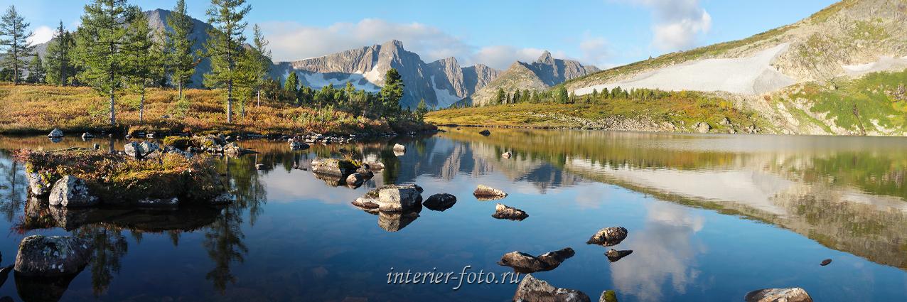 Утро на озере Круглом в Золотой долине - Кузнецкий Алатау