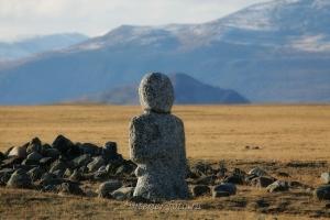 Каменный воин в Монгольском Алтае