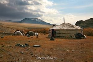 Юрта в Монгольском Алтае