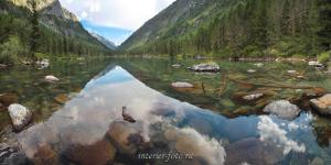 Второе озеро на Большом Кулагаше - Катунский хребет