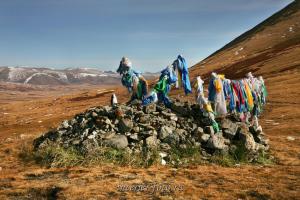Обо на перевале Бугузун - Алтай - Тува