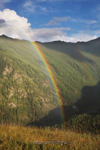 Радуга над долиной Большого Кулагаша - Алтай
