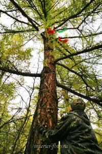 Ленты - место захоронение шамана на Каргы