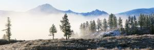 Курайский хребет в тумане
