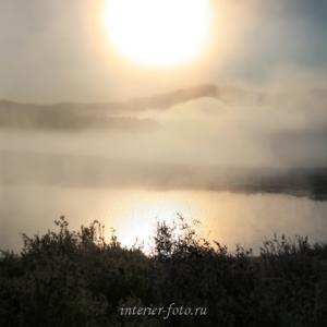 Туман на Улаганском плато
