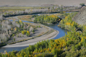 Река Хемчик осенью
