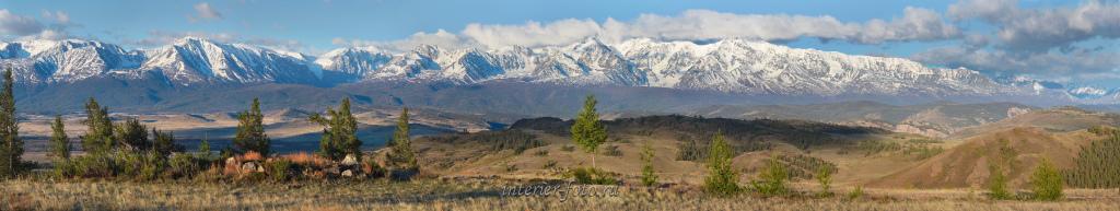 Панорама Северо-Чуйского хребта - Курай