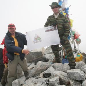На вершине Мунку-Сардык - высшей точки Саян