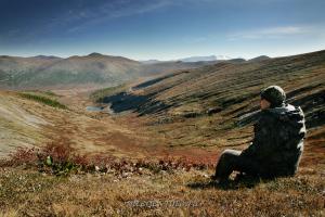На Саянском перевале - граница Тувы и Хакасии