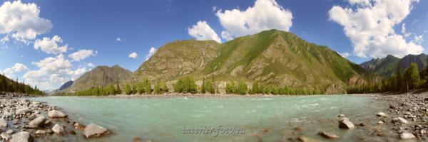 Панорама реки Катунь