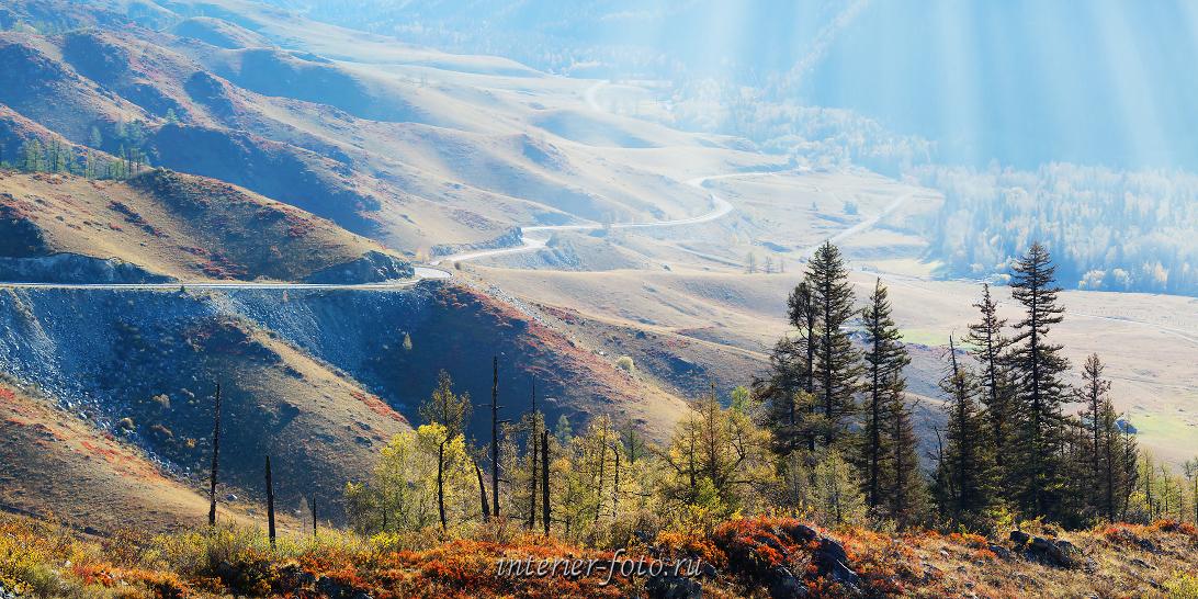 Чуйский тракт Чике-Таман Спуск в долину Большого Ильгуменя