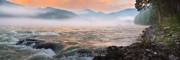 Панорама Закат на Бирюзовой Катуни