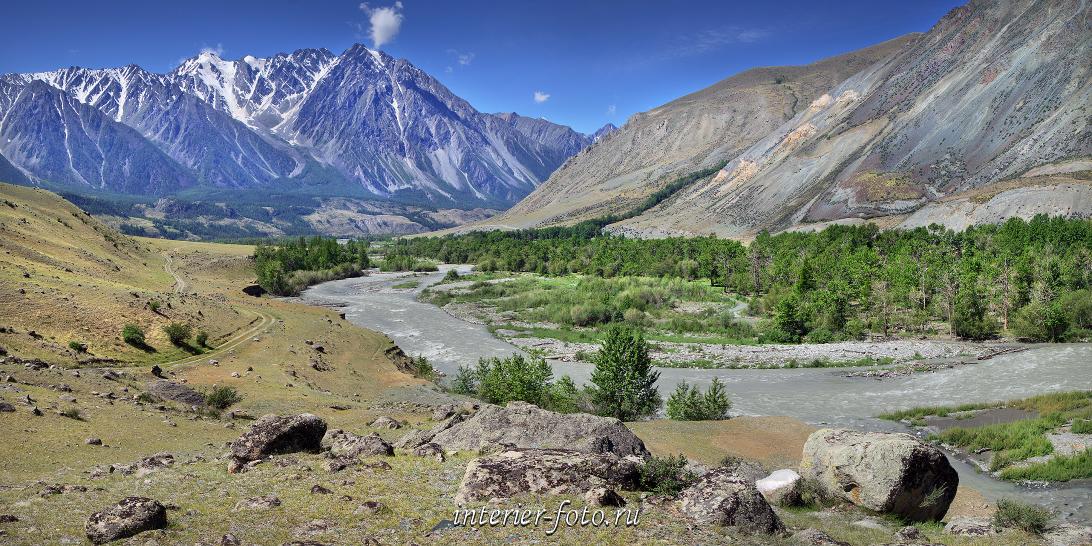 Долина Карагема перед впадением в Аргут