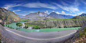 Панорама Катунь по дороге в Инегень
