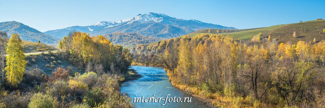 Гора Будачиха и река Ануй осенью