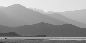Черно-белое фото Монголия