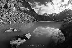 Черно-белое фото Алтай